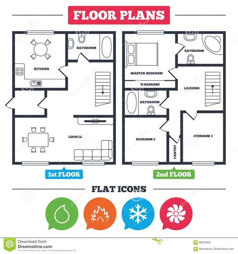 floor plan signs hvac heating ventilating and air conditioning stock
