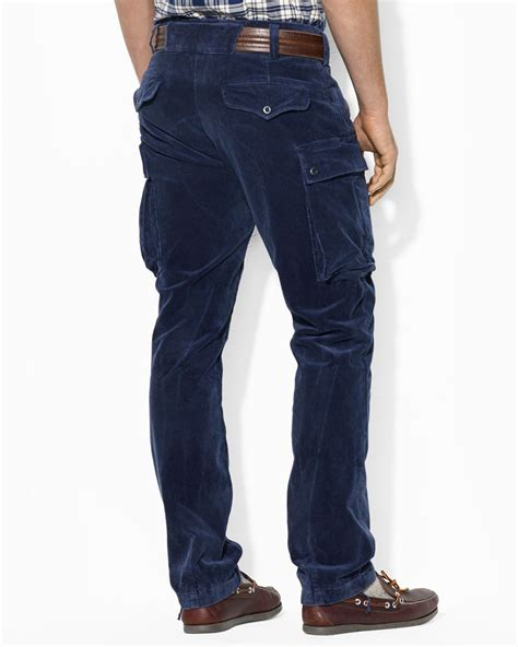 Cargo Us Army Levi S Uniqlo Calvin Klein Alpha Adidas Jacket ralph polo fit corduroy cargo pant in blue