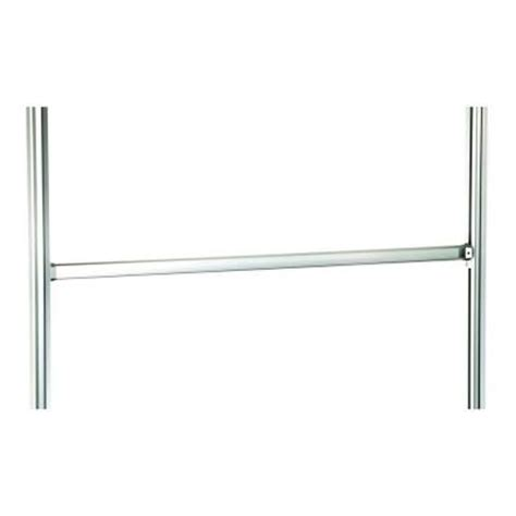 space pro relax 48 in aluminum closet rod with brackets