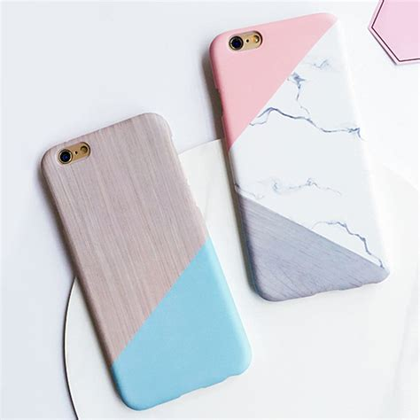 Iphone 7 Plus 7 Pink Pig Pastel Casing Hp lack geometric splice pattern marble for iphone 7 for iphone7 7 plus phone cases