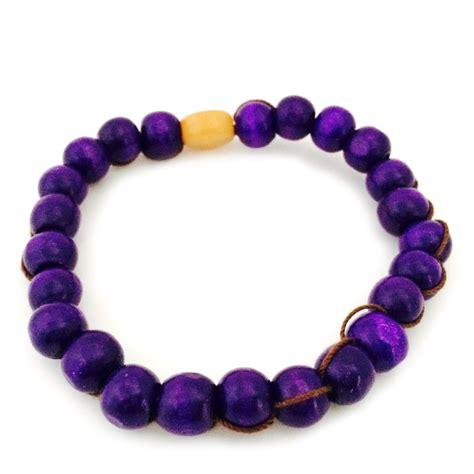purple beaded bracelet purple wood bead bracelet