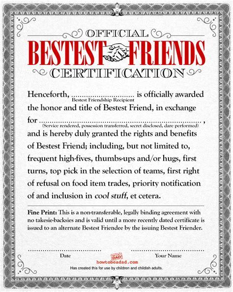 friendship agreement template howtobeadad if had documents 5 joke