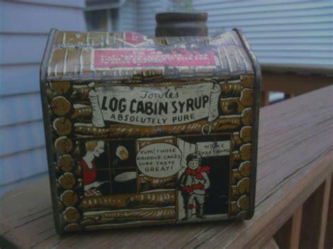 towless log cabin syrup tin collectors weekly