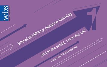Warwick Business Mba Ranking by The Uk No 1 And World No 2 In New Financial Times Ranking