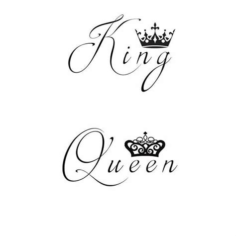 queen tattoo writing king and queen tattoos my boyfriend and i designed them