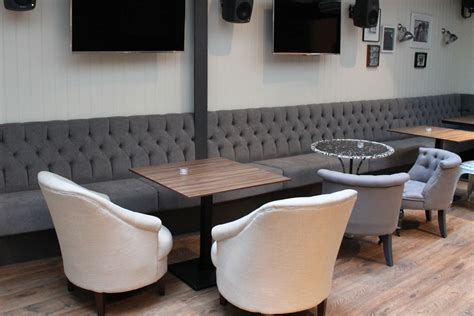 banquett seating banquette seating for envy bar london fitz impressions