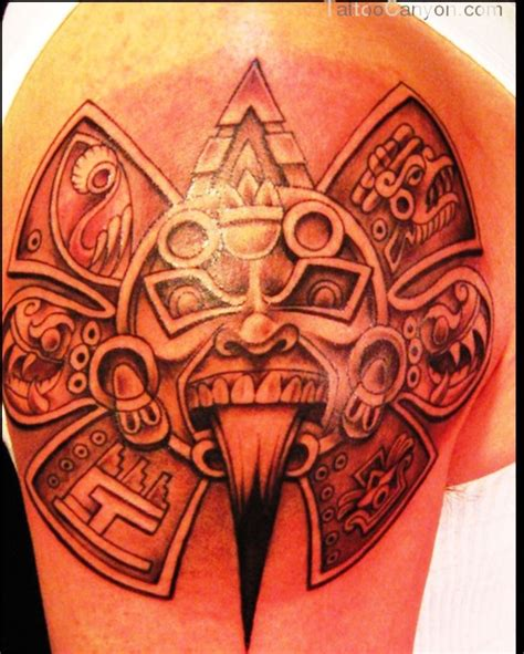 aztec god tattoos best 25 aztec designs ideas on aztec