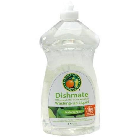 Salt Bath Odour Repellent 3 pear washing up liquid dishmate in 500ml from earth friendly