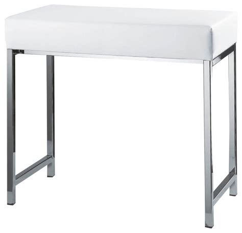white bathroom bench harmony 504 bench in chrome and white contemporary