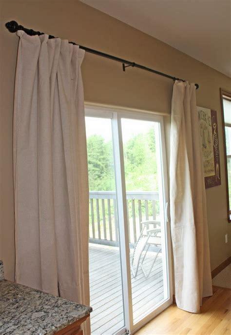 kitchen sliding door curtains 1000 ideas about sliding door curtains on pinterest