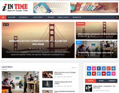 layout majalah terbaik top 12 template blog majalah berita terbaik 2015 contoh blog