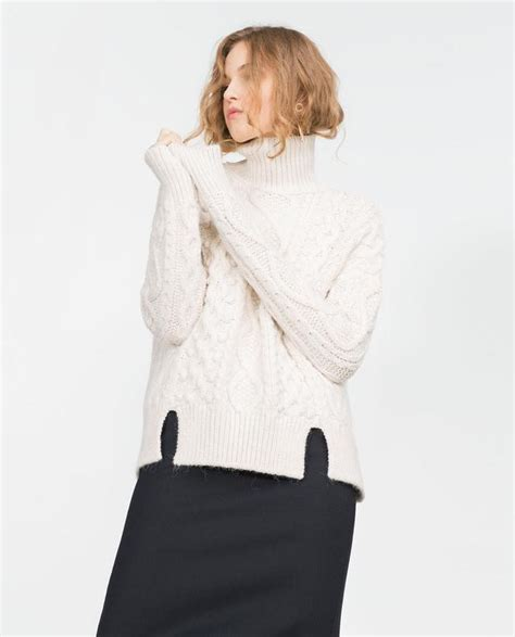 zara cable knit jumper cable knit sweater endource