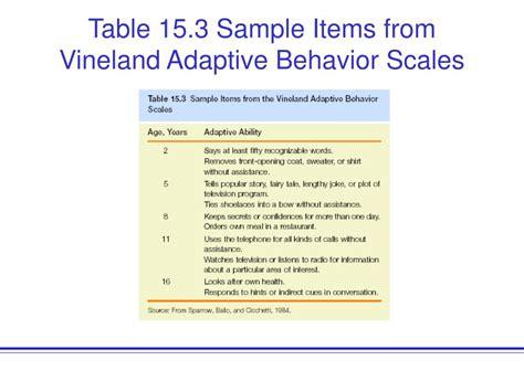 vineland sle report limited adaptive functioning