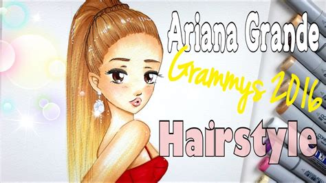 Drawing 4 Fall Hairstyles by How To Draw And Color Grande Grammys 2016