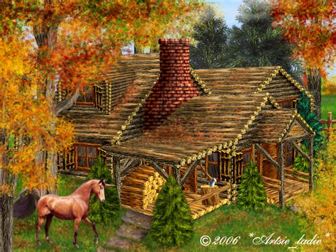 Log Cabin Paintings by Log Cabin Paintings Pictures To Pin On Pinsdaddy