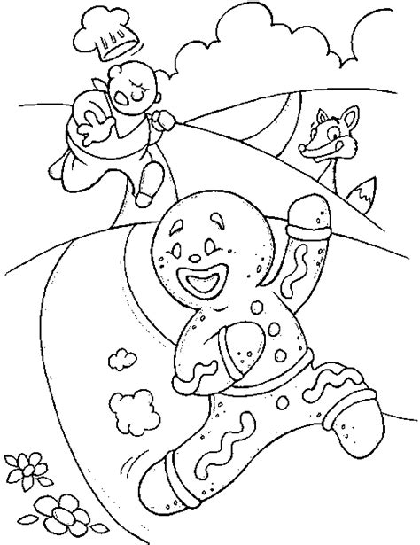 free gingerbread coloring pages to kids cartoon coloring