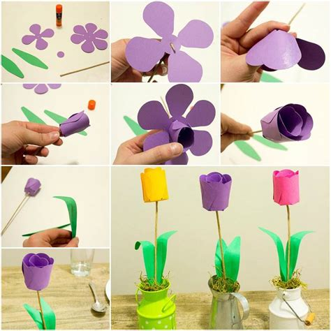 How To Make A Paper Tulip - how to diy 3d paper tulip flowers
