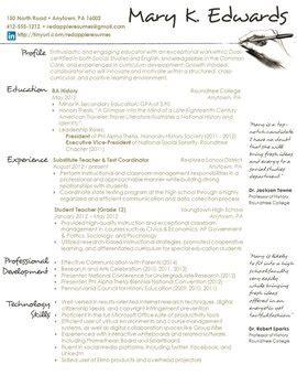 Creative Teacher Resume Handwritten Template By Redappleresumes Handwritten Resume Template