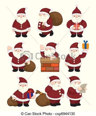 imagenes santa claus caricatura vector clip art de caricatura santa claus navidad