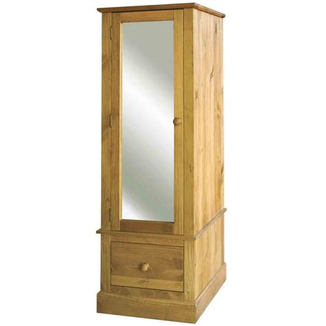 mirror armoire cotswold waxed pine armoire with mirrored door charlies