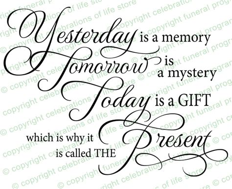 pretty scripture memory card templates funeral quotes yesterday is a memory funeral quote