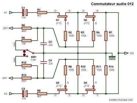transistor fet fonctionnement electronique realisations commutateur audio 012