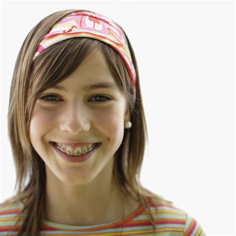 young teen girl face with braces metal braces violife smile design s blog
