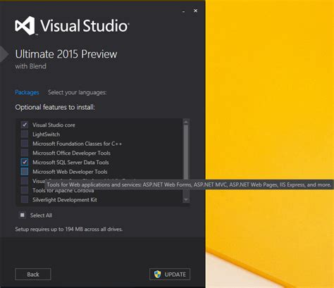 website templates for visual studio 2015 why i cant see new project web template for visual studio