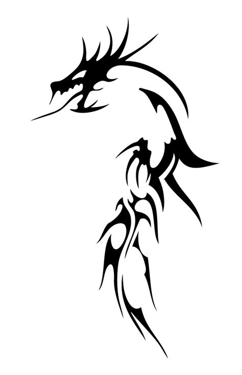 back dragon tattoo designs tribal