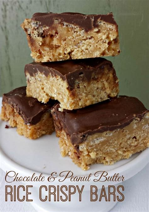 Peanut Butter Rice Krispie Bars With Chocolate Topping by Chocolate Peanut Butter Rice Crispy Bars Favorite Recipes Bar Peanut Butter And