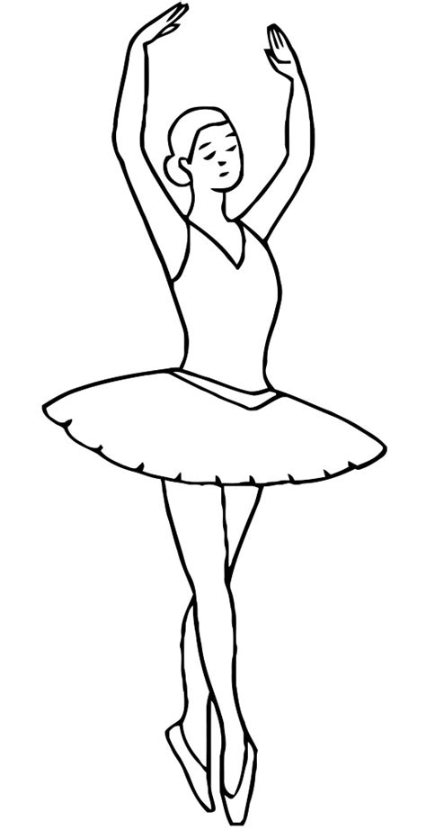 ballet dancing coloring pages