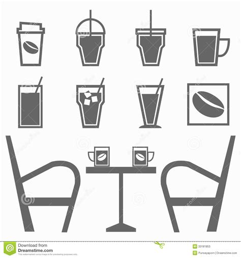 vector coffee shop background free vector download 46 902 free set of drinks in coffee shop on white background stock