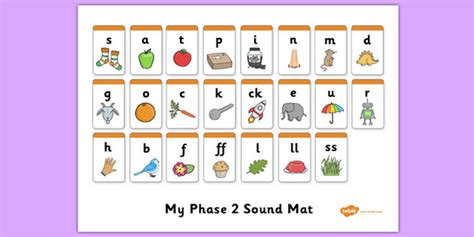phase 2 word mat phase 2 sound mat literacy phonics word families and