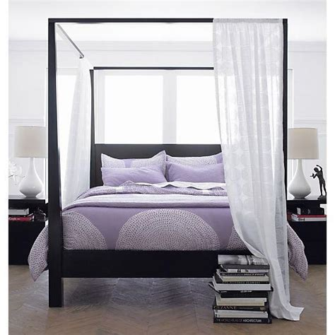 black canopy beds pavillion black canopy bed in beds from crate and barrel