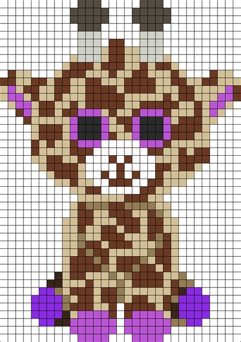 perler bead animal patterns giraffe perler bead pattern bead sprites animals fuse