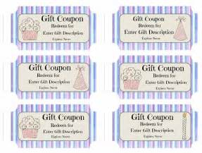 gift coupon template free custom birthday coupons customize print at