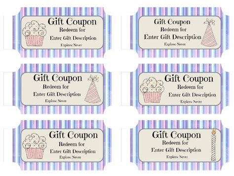 printable birthday coupon template free custom birthday coupons customize print at
