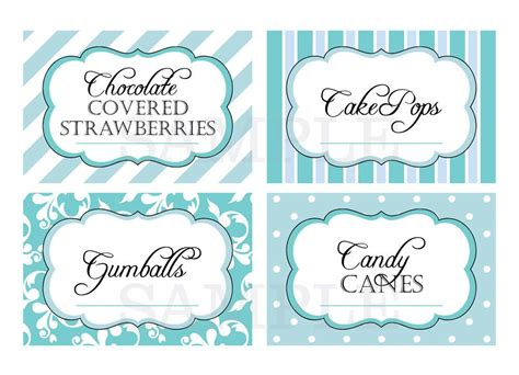free buffet cards templates printable buffet labels for wedding or shower