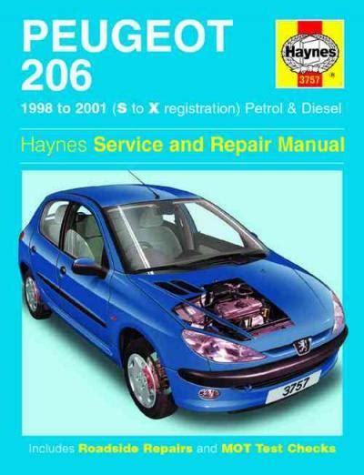 Peugeot 206 Petrol Diesel 1998 2001 Haynes Service Repair