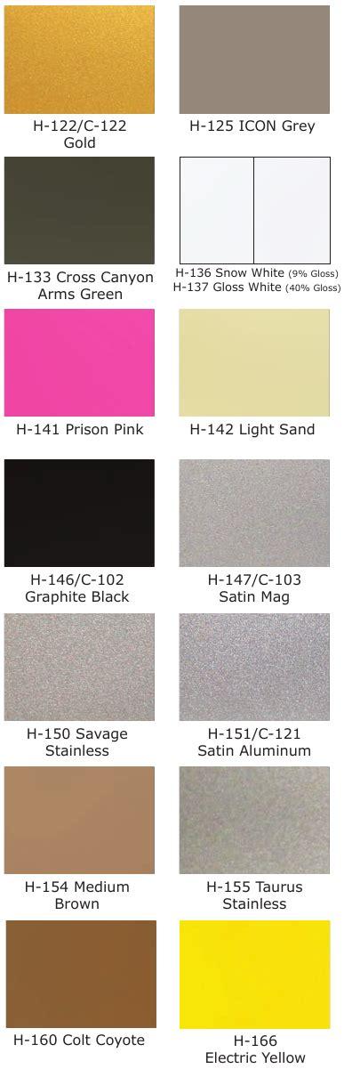 cerakote colors cerakote color chart related keywords cerakote color