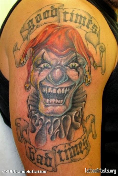 good times tattoo times bad times laughing clown tattooimages biz