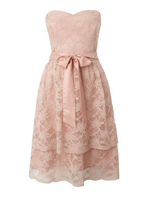 Layer Lace untold strapless lace layered dress in pink lyst