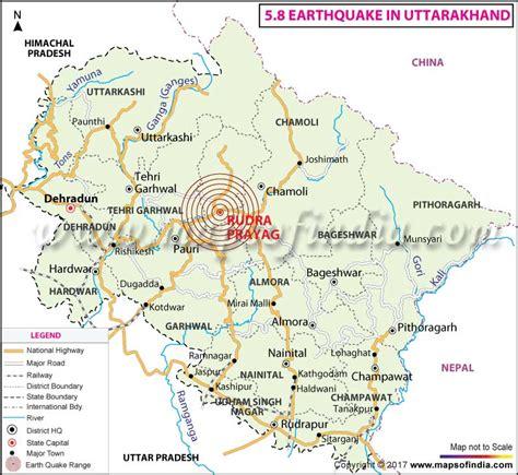 earthquake uttarakhand location map of m 4 9 earthquake in haldwani uttarakhand