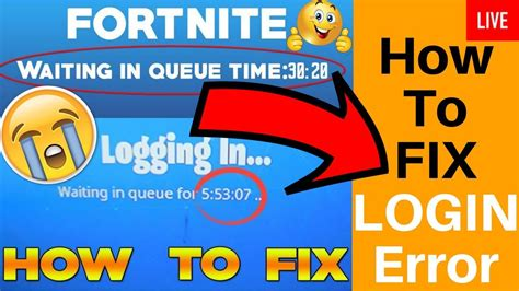 fortnite login failed matchmaking issues unexpected