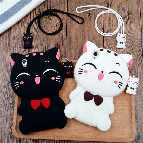Iphone 6 6s 3d Kawaii Bowtie Cat Silikon Soft Cover Casing Lucu 3d smile bow cat soft silicon black white phone cover for iphone 5 5s se 6 6s 7