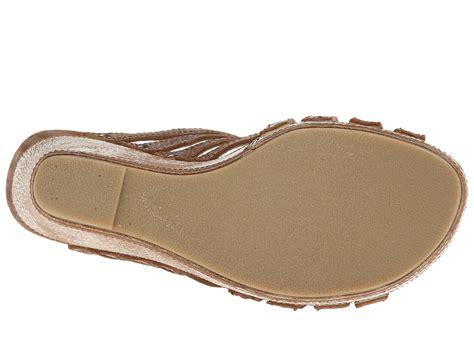 bed stu juliana bed stu juliana wedge sandals in brown lyst