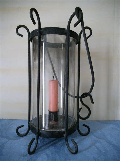 kerzenhalter glas rund kerzenhalter laterne rund glas und eisen