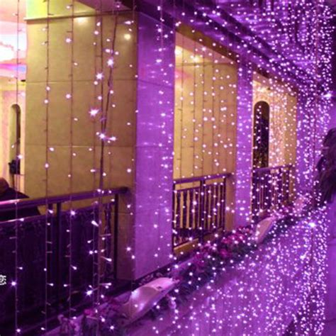 christmas outdoor decoration    curtain icicle string led lights   year garden xmas