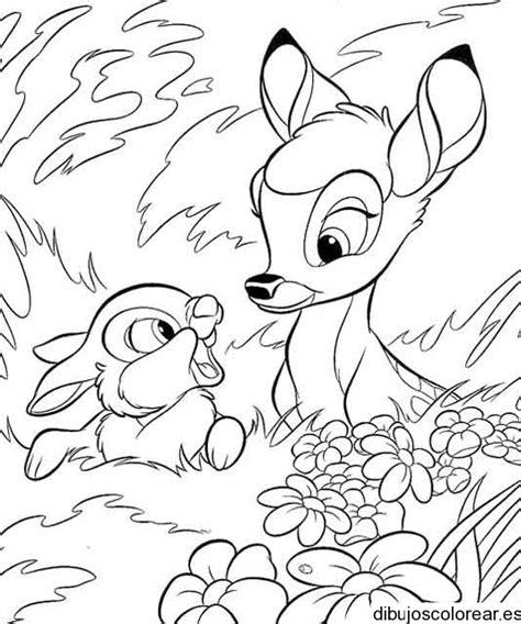 imagenes para colorear venado dibujo de un venado y un conejo