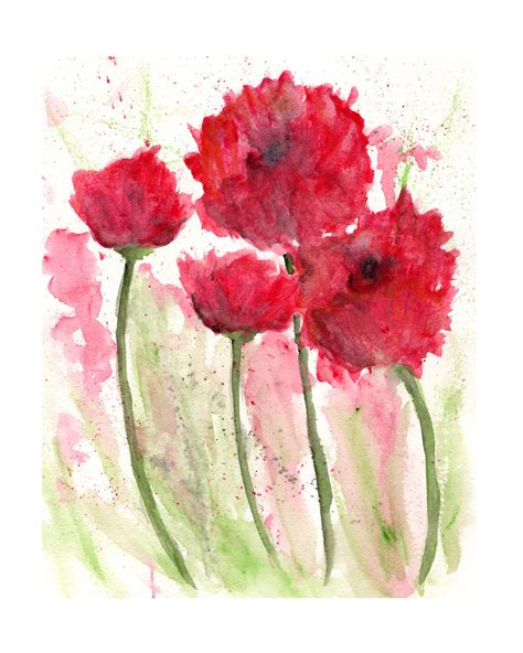 libro watercolour flower portraits watercolor flowers watercolor poppies flower painting